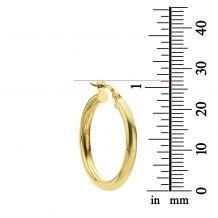 Hoop Earrings in 14K White Gold - M (thin)