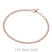 Women's Bracelet in 14K Rose Gold - Balls