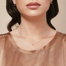 Pendant and Necklace in 14K Yellow Gold - Golden Hexagon