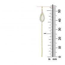 14K Yellow Gold Dangle Earrings - Shining Drop