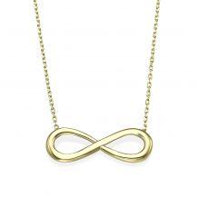 14k Yellow gold women's pandants - Infinity