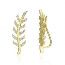 14K Yellow Gold Climbing Earrings - Eve