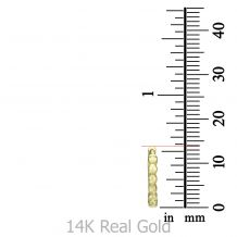 14k Yellow gold women's  Hoop Earrings - Balls