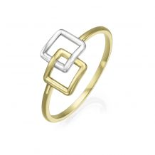 14K White & Yellow Gold Ring - Alice