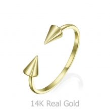 14K Yellow Gold Open Ring - Spinning Arrows