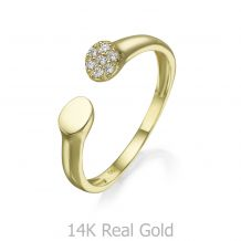 14K Yellow Gold Open Ring - Celine