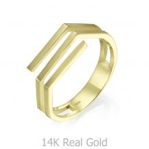 14K Yellow Gold Ring - Aline