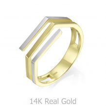 14K White & Yellow Gold Ring - Aline