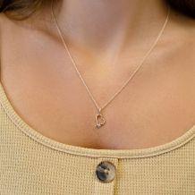 14K Yellow Gold Diamond Women's Pendant - Heart of Atlantis