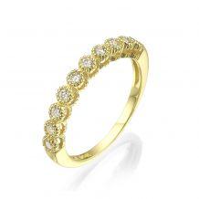14K Yellow Gold  Diamond Ring- Izabel