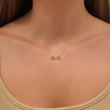 14k Yellow gold women's pendant  - Infinity