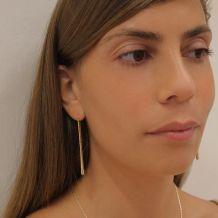 14K Yellow Gold Dangle Earrings - Jolene