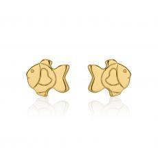 Gold Stud Earrings -  Goldfish