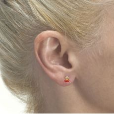 Gold Stud Earrings -  Cheery Cherry