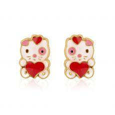 Gold Stud Earrings -  Doll of Love