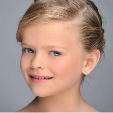 Gold Stud Earrings -  Pony