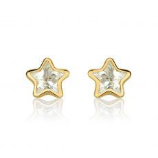 Gold Stud Earrings -  Fairy Tale Star