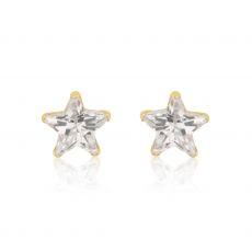 Gold Stud Earrings -  Twinkling Star