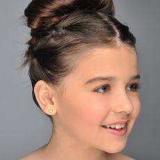 Gold Stud Earrings -  Classic Heart - Small