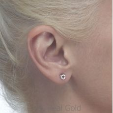 Gold Stud Earrings -  Symphonic Heart