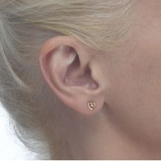 Gold Stud Earrings -  Captivated Heart