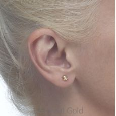 Gold Stud Earrings -  Circle of Splendor - Large