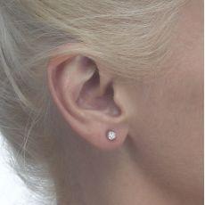 Gold Stud Earrings -  Circle of Splendor - Small