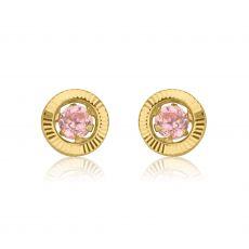 Gold Stud Earrings -  Circle of Dawn - Small