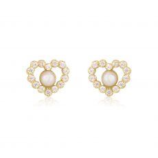 Gold Stud Earrings -  Marilyn Pearl