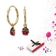 Earrings - Ladybug