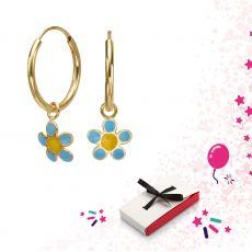 Earrings - Selina Flower - Light Blue