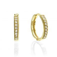 Huggie Gold Earrings - Madrid