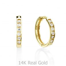 Huggie Gold Earrings - Torino