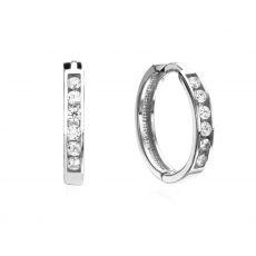 Huggie White Gold Earrings - Torino