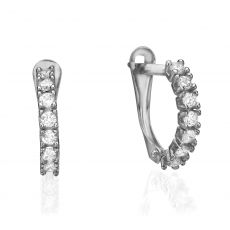 Drop White Gold Earrings - Nina