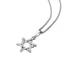 White Gold Pendant - Star of David (Zion)