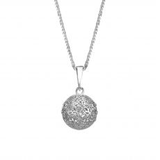 White Gold Pendant - Golden Globe