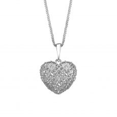 White Gold Pendant - Delicate Heart