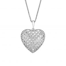 White Gold Pendant - Belle's Heart