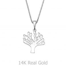 White Gold Pendant - Tree of Life