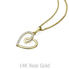 Gold Pendant - Heart of Gaia