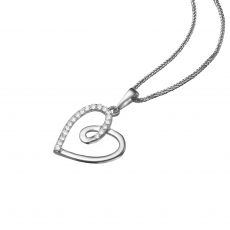 White Gold Pendant - Heart of Gaia
