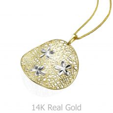 Gold Pendant - Flowers of Delight