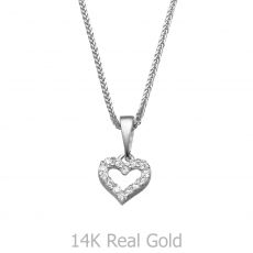 White Gold Pendant - Heart of Splendor