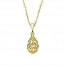 Gold Pendant - Glittering Drop