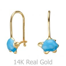 Earrings - Torti Tortoise -  Light Blue