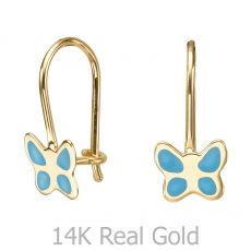 Earrings - Flutterby Butterfly - Light Blue