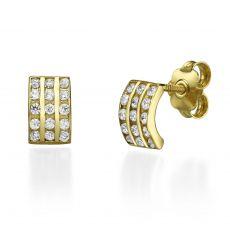 Stud Earring in Yellow Gold - Princess
