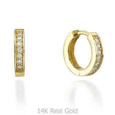 Yellow Gold Hoop Earrings - Montana