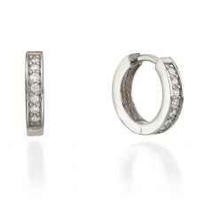 White Gold Hoop Earrings - Montana